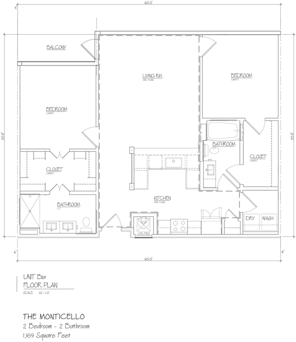 Monticello 2D Floor Plan
