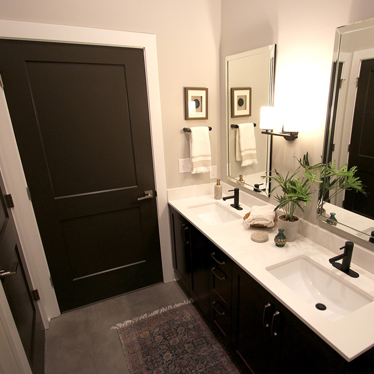 Bathroom with Double Bowl Sinks