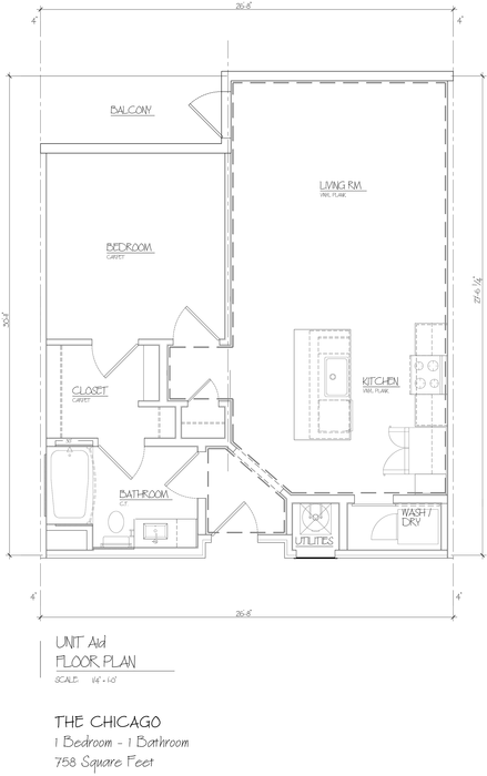 Chicago 2D Floor Plan